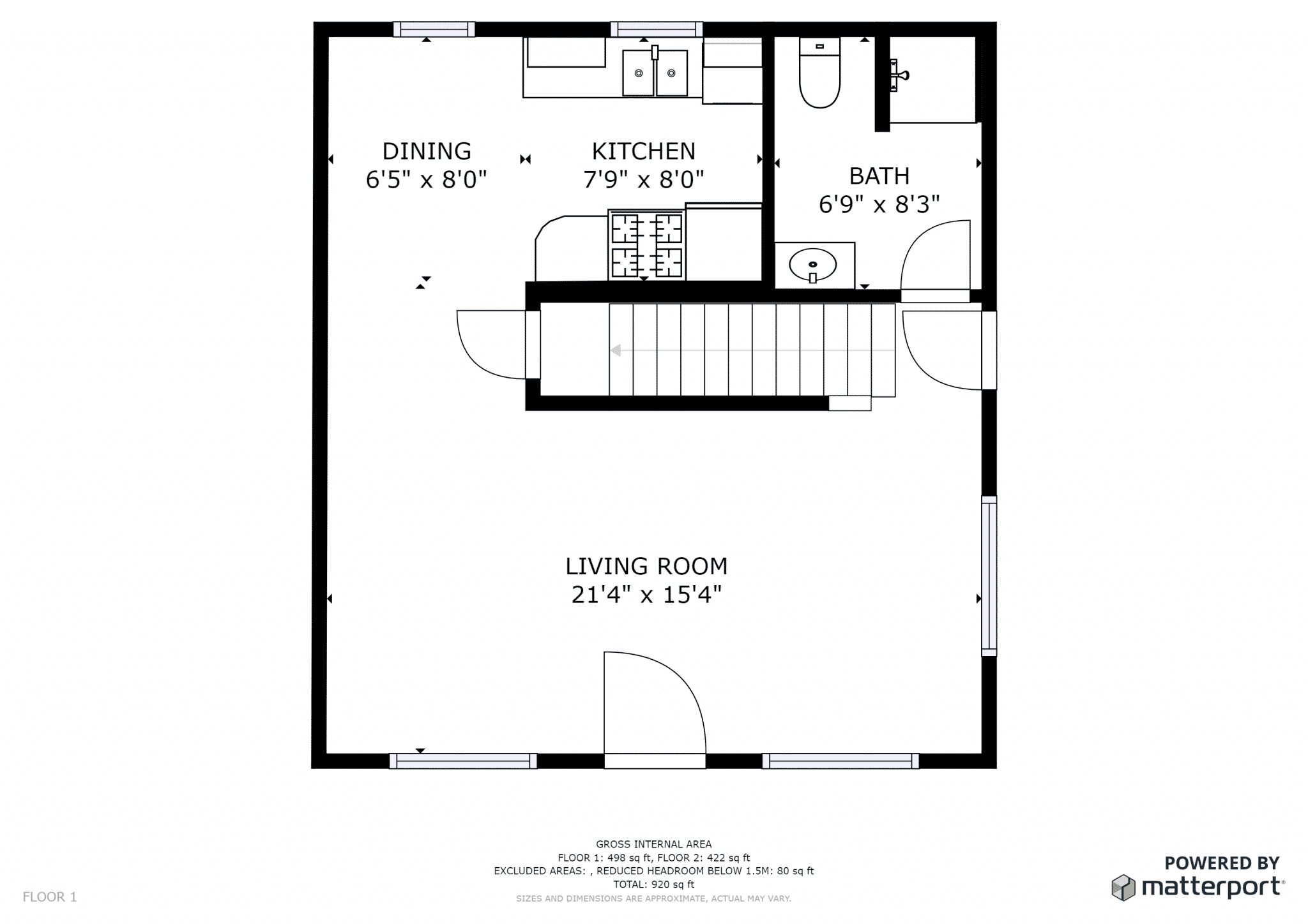 David Floor Plan, Downstairs